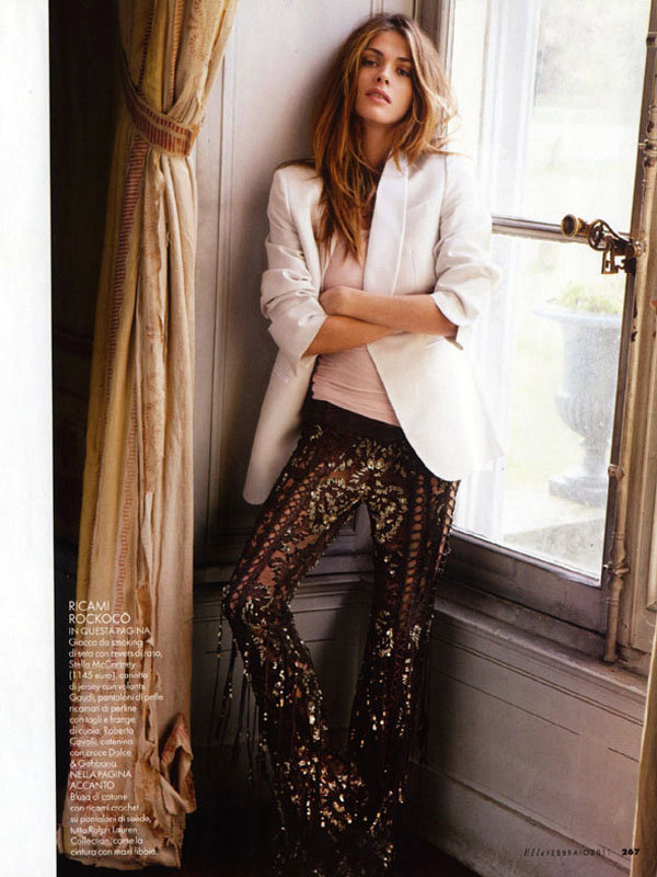 Elisa Sednaoui for Elle Italia February 2011 by Matt Jones