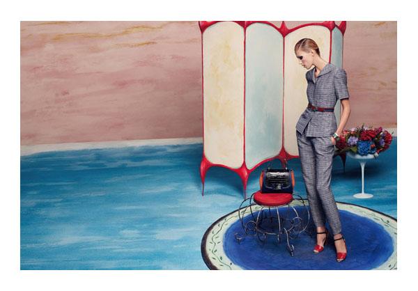 Fendi Spring 2011 Campaign   Anja Rubik by Karl Lagerfeld
