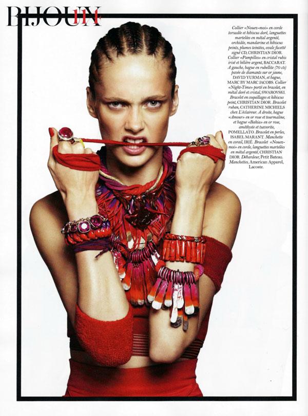 Karmen Pedaru by Paola Kudacki for Vogue Paris February 2011