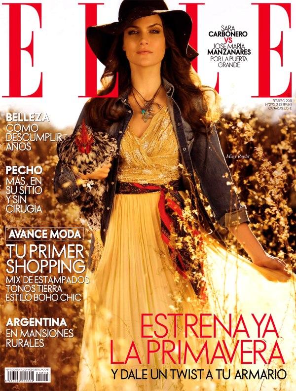 Elle Spain February 2011 Cover | Missy Rayder by Santiago Esteban