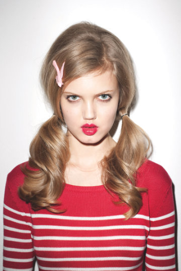 Lindsey Wixson by Terry Richardson for Opening Ceremony Spring 2011