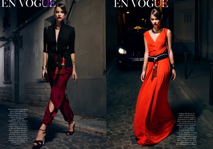 Barbara Palvin by Sharif Hamza for Vogue Paris February 2011