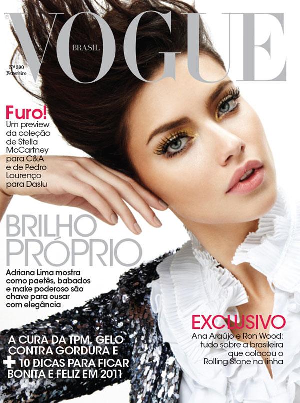 Adriana Lima for Vogue Brazil February 2011 (Cover)