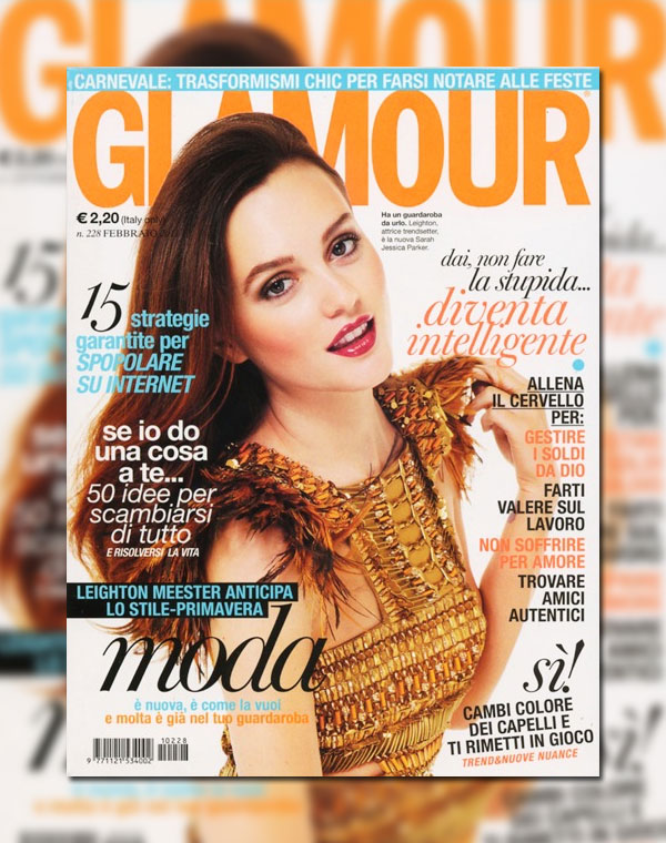 Glamour Italy February 2011 Cover | Leighton Meester by Giampaolo Sgura