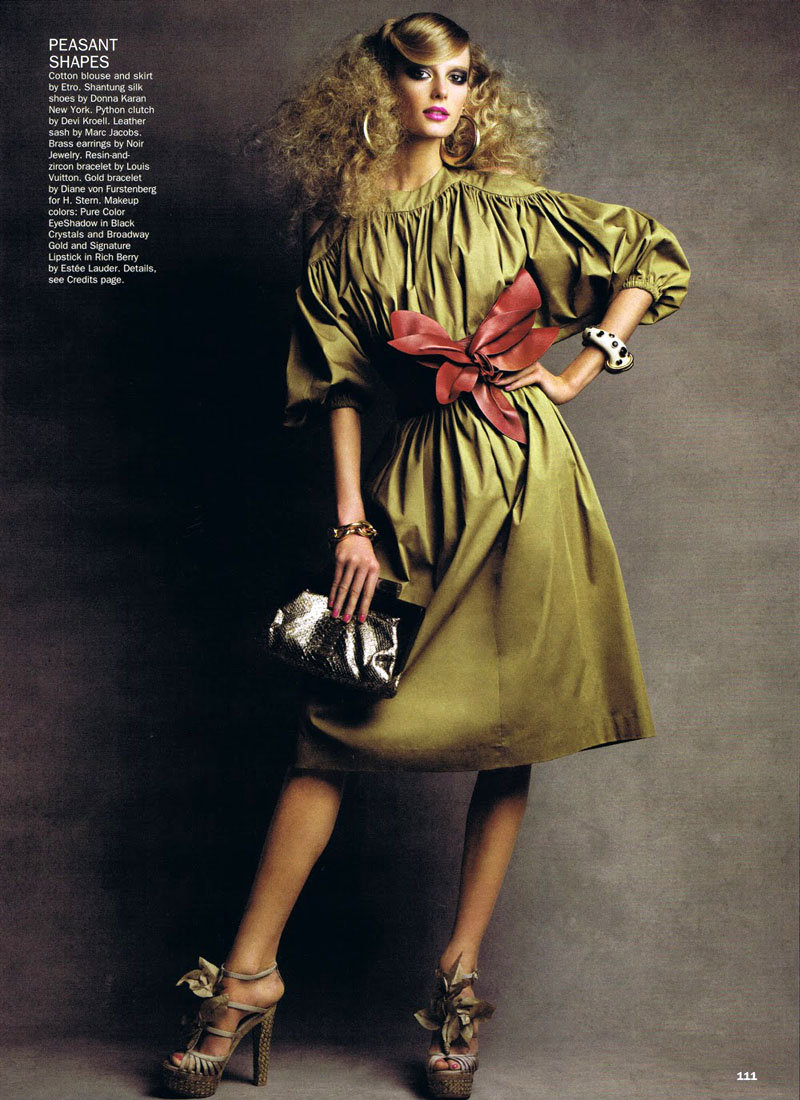 Sigrid Agren by Patrick Demarchelier for Allure February 2011