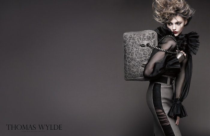 Sasha Pivovarova for Thomas Wylde Spring 2011 Campaign by Greg Kadel
