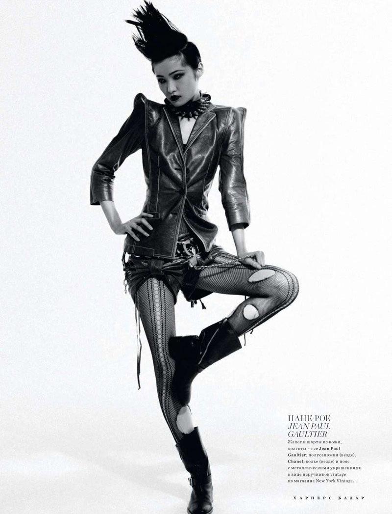 Irina Lazareanu, Annabelle & Xiao by Luis Sanchis for Harper's Bazaar Russia