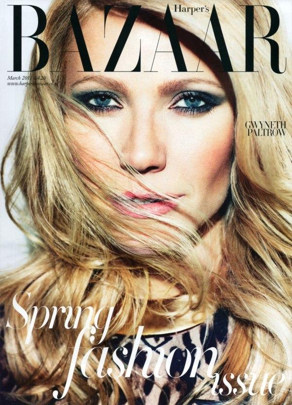 Harper's Bazaar UK March 2011 Cover | Gwyneth Paltrow by Alexi Lubomirski