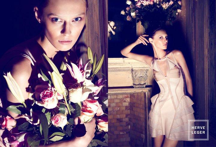 Herve Leger Spring 2011 Campaign | Olga Sherer by Camilla Akrans