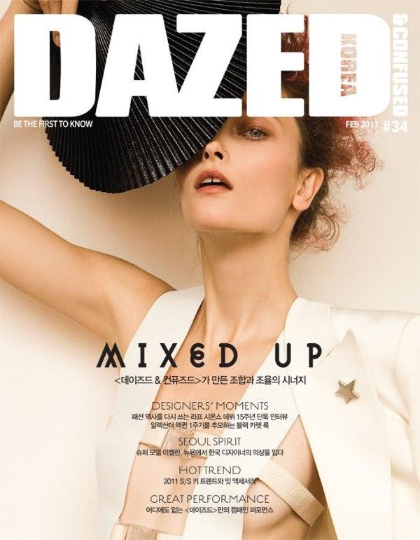 Dazed & Confused Korea February 2011 Cover | Iekeliene Stange by Alexander Neumann