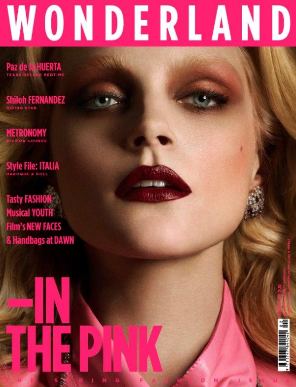 Wonderland February/March 2011 Cover | Jessica Stam by Cuneyt Akeroglu