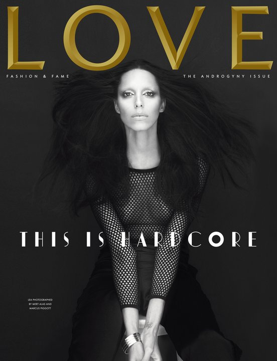 LOVE S/S 2011 Cover | Kate Moss & Lea T. by Mert & Marcus