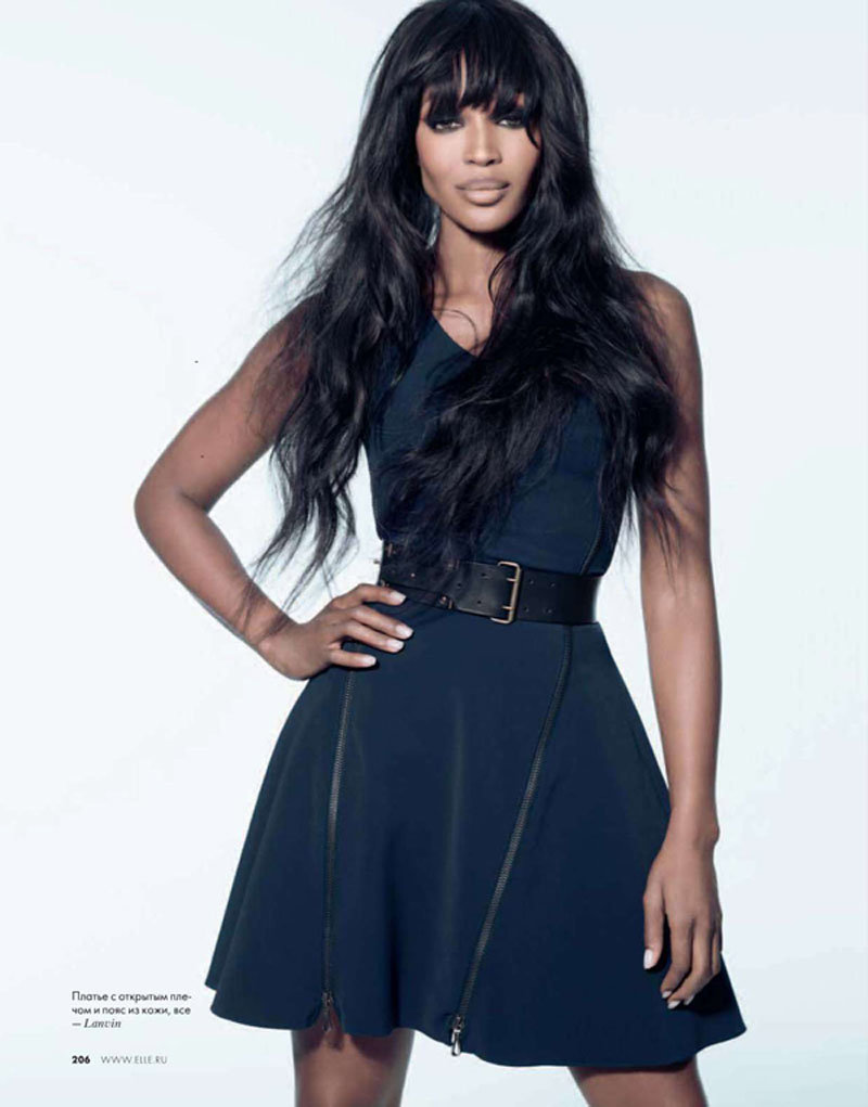 Naomi Campbell for Elle Russia February 2011 by Kayt Jones