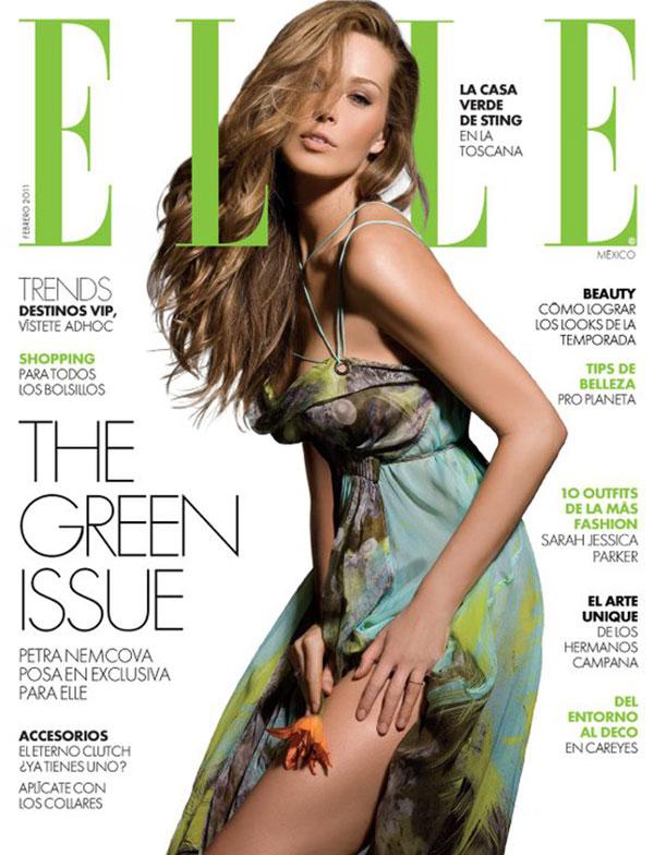 Elle Mexico February 2011 Cover | Petra Nemcova by Alexander Neumann