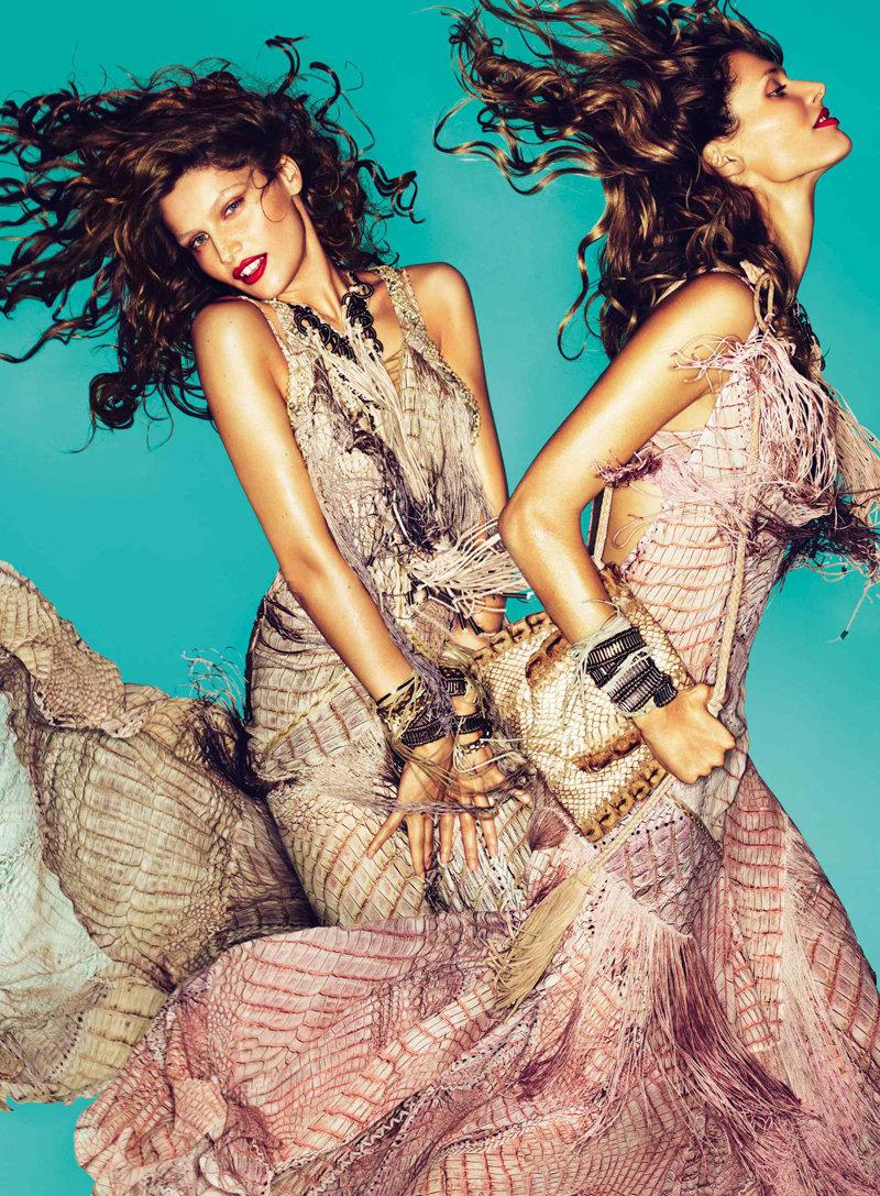 Roberto Cavalli Spring 2011 Campaign | Laetitia Casta, Joan Smalls & Malgosia Bela by Mert & Marcus
