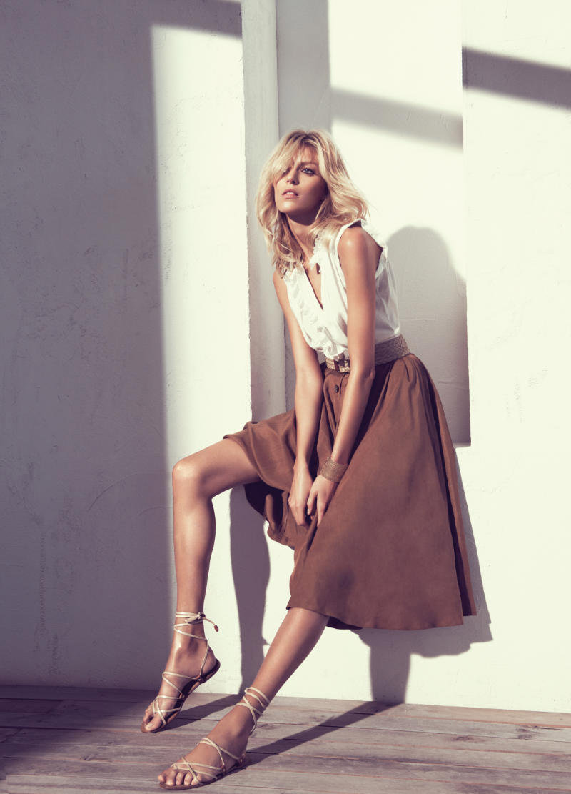 Anja Rubik for Massimo Dutti Spring 2011 Campaign by Paola Kudacki
