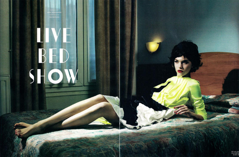 Arizona Muse by Willy Vanderperre for LOVE S/S 2011
