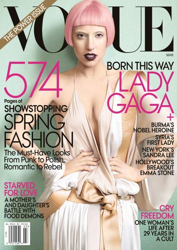 Vogue US March 2011 Cover   Lady Gaga by Mario Testino