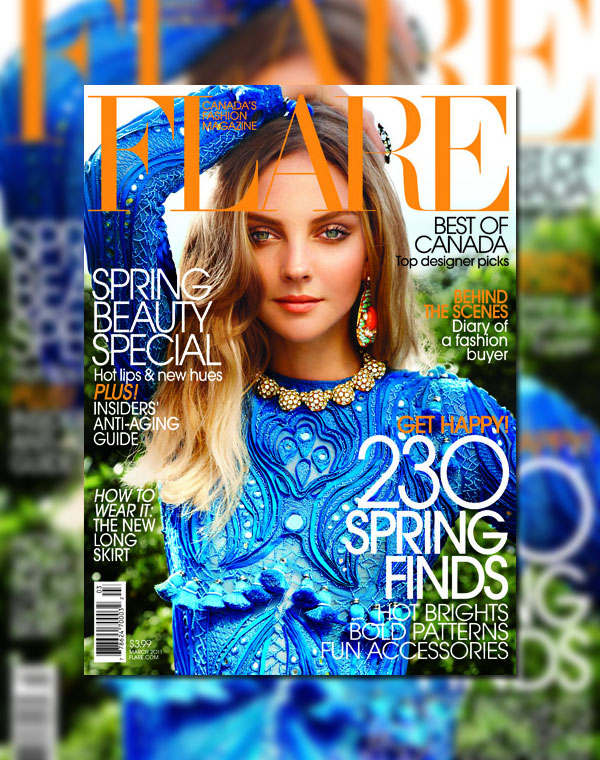 Flare March 2011 Cover | Heather Marks by Max Abadian