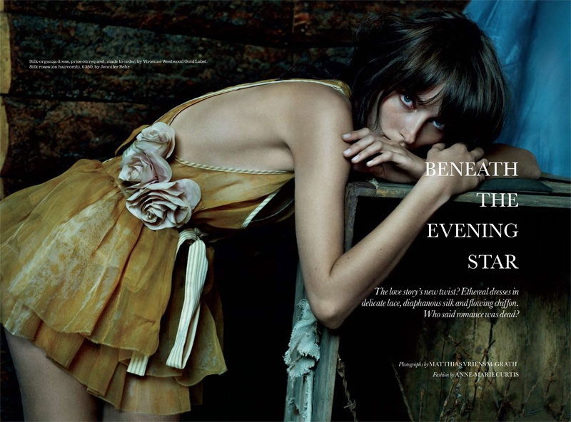 Iekeliene Stange by Matthias Vriens-McGrath for Elle UK March 2011