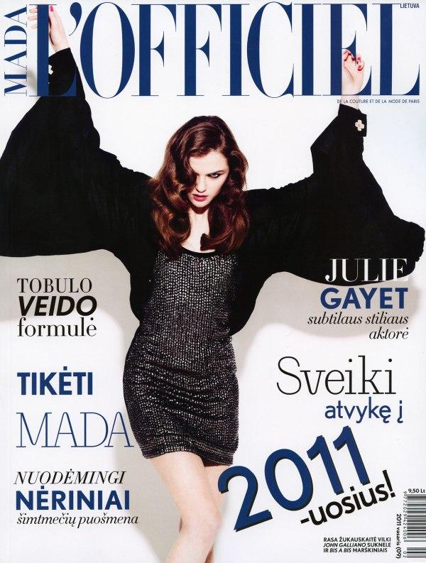 L'Officiel Lithuania February 2011 Cover | Rasa Zukauskaite by Rokas Darulis