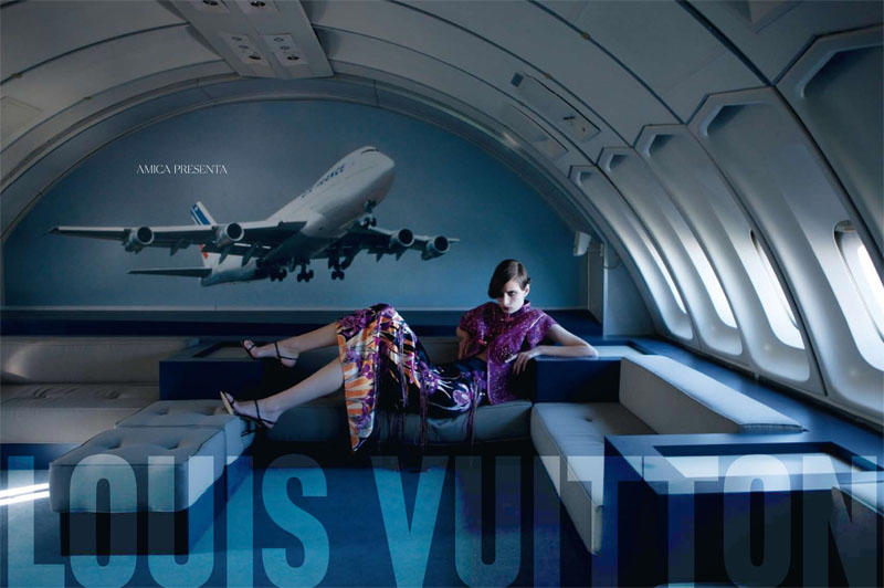 Suzie Bird & Ophelie Rupp in Louis Vuitton for Amica March 2011 by Christopher Morris