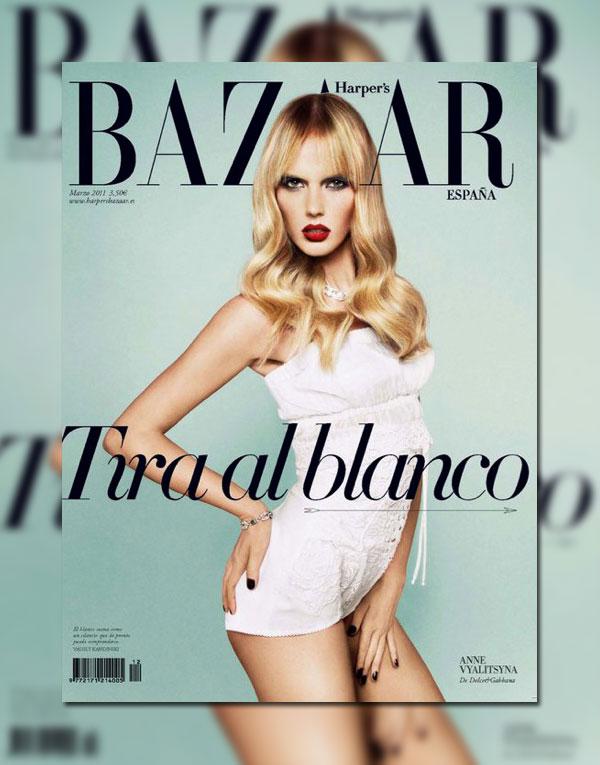 Harper's Bazaar Spain March 2011 Cover | Anne Vyalitsyna by Txema Yeste