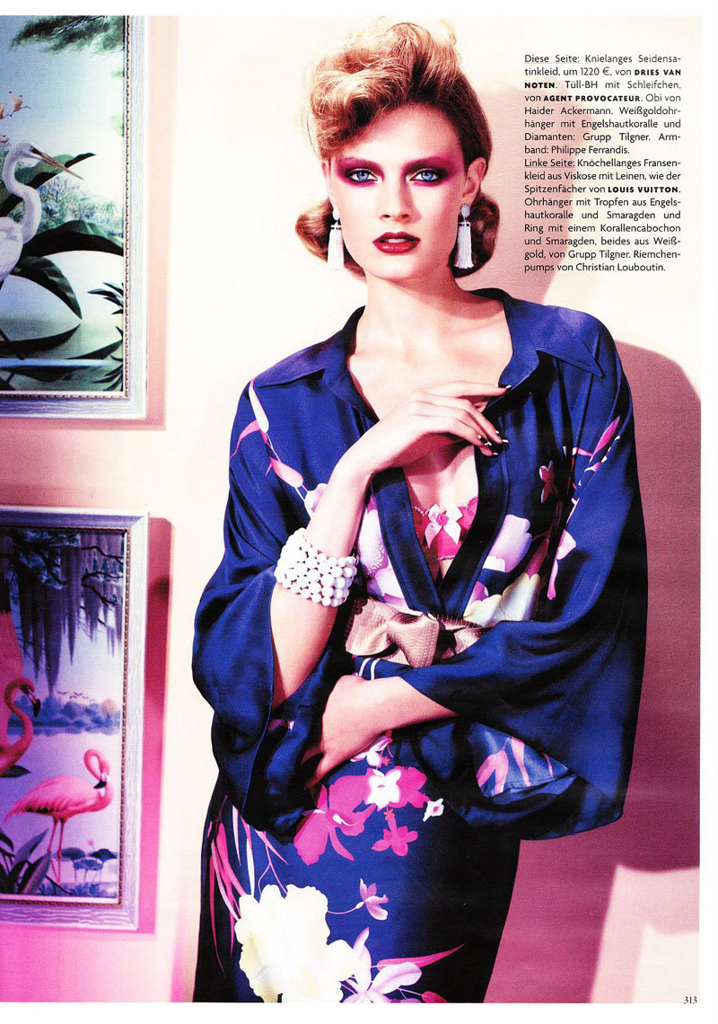 Constance Jablonski for Vogue Germany March 2011 by Alexi Lubomirski