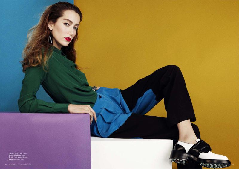 Alana Zimmer by Benny Horne for Harper's Bazaar Australia