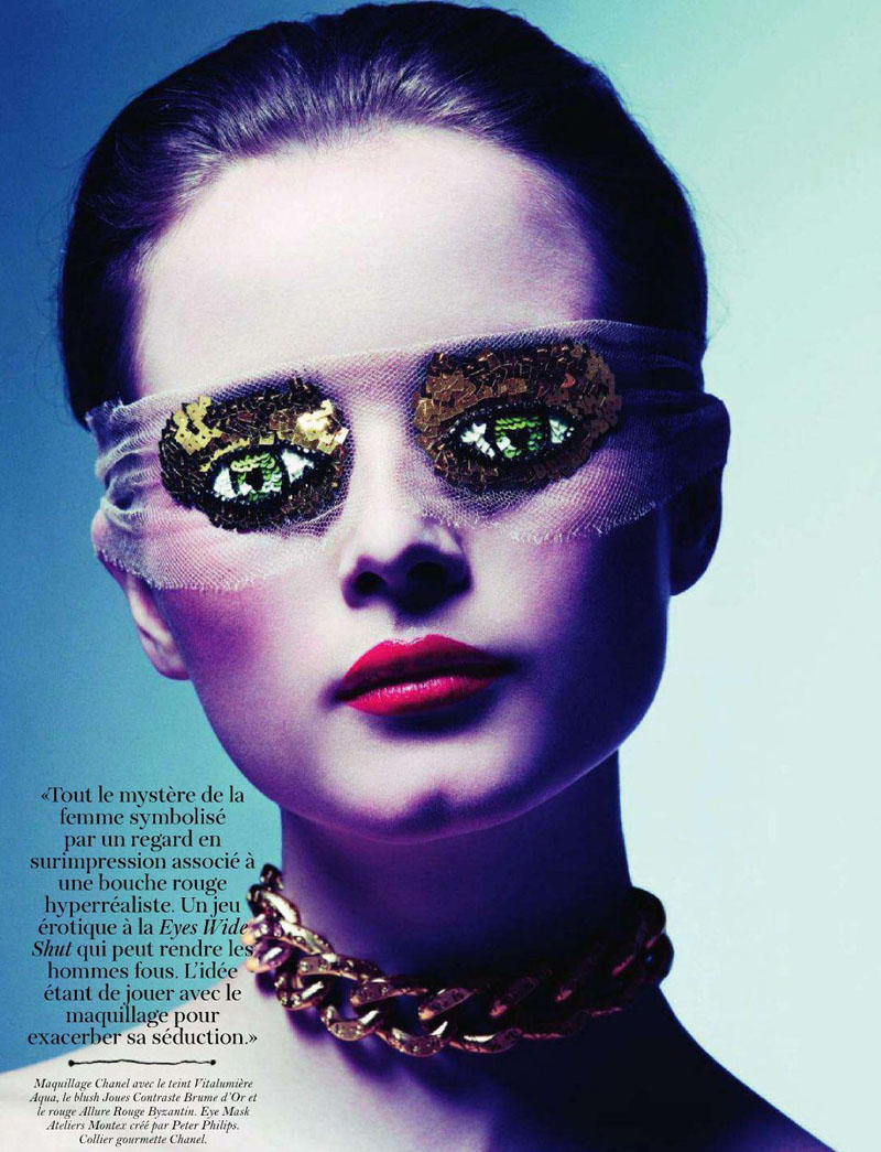 Anna de Rijk by Inez & Vinoodh for Vogue Paris March 2011