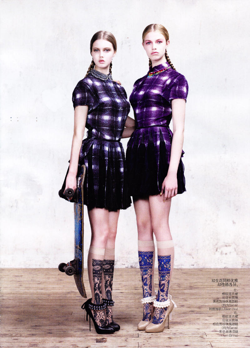 Lindsey Wixson & Hailey Clauson by Willy Vanderperre for Vogue China March 2011