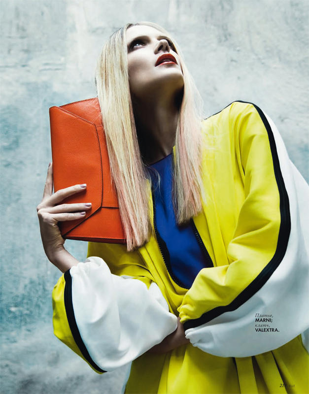 Olga Serova by Nikolay Biryukov for Elle Ukraine March 2011