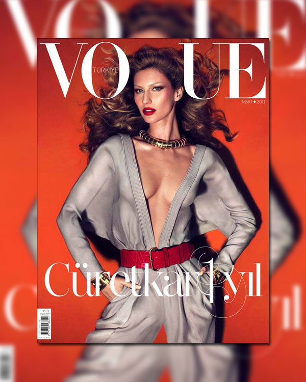 Vogue Turkey March 2011 Cover | Gisele Bundchen by Mert & Marcus