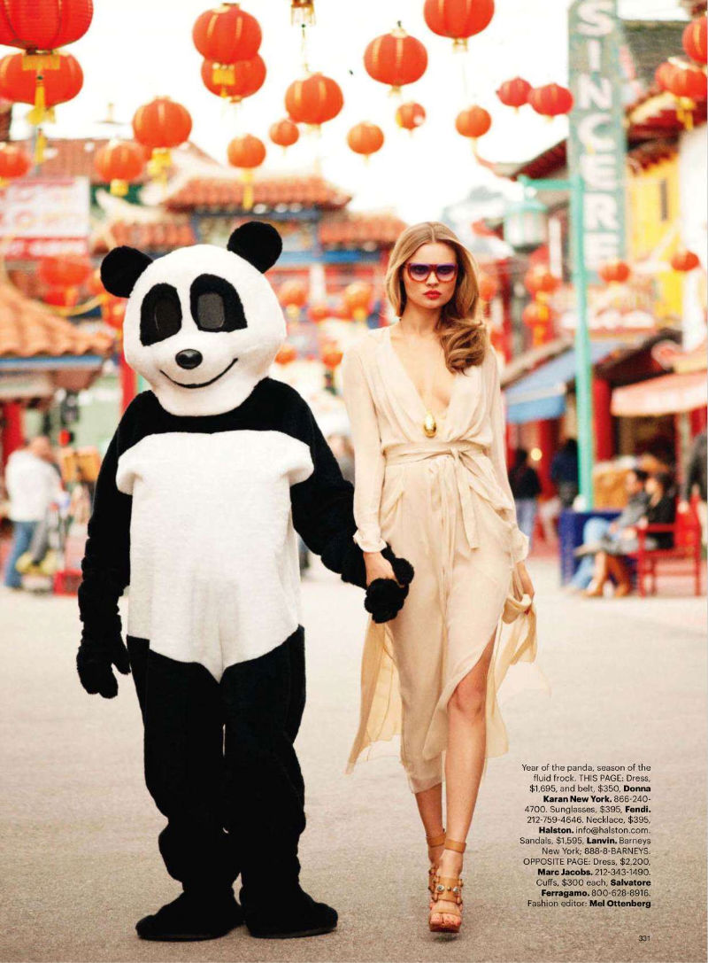 Magdalena Frackowiak by Terry Richardson for Harper's Bazaar US March 2011