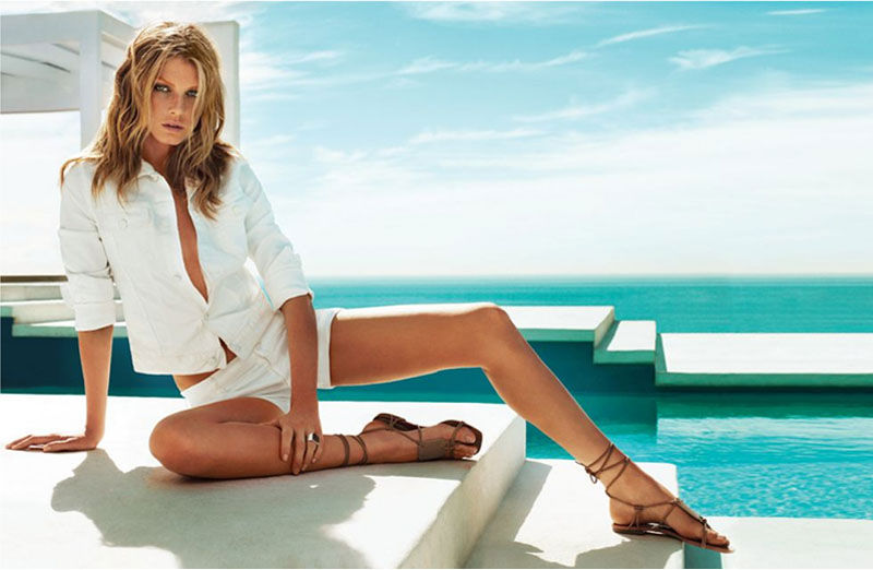 Angela Lindvall for 7 For All Mankind Spring 2011 Campaign