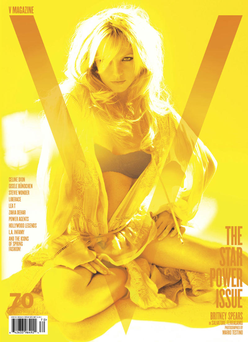Britney Spears for V Magazine #70 by Mario Testino