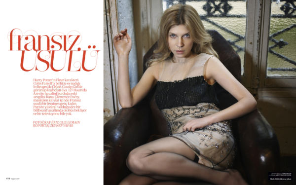 Clemence Poesy by Eric Guillemain for Vogue Turkey March 2011
