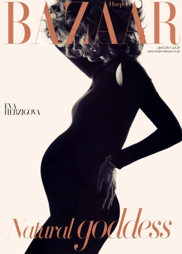 Harper's Bazaar UK April 2011 Cover | Eva Herzigova by Michelangelo di Battista
