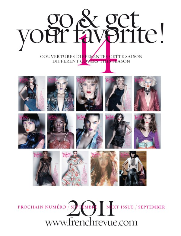 French Revue de Modes S/S 2011 Covers | 13 Models by Thierry Le Gouès