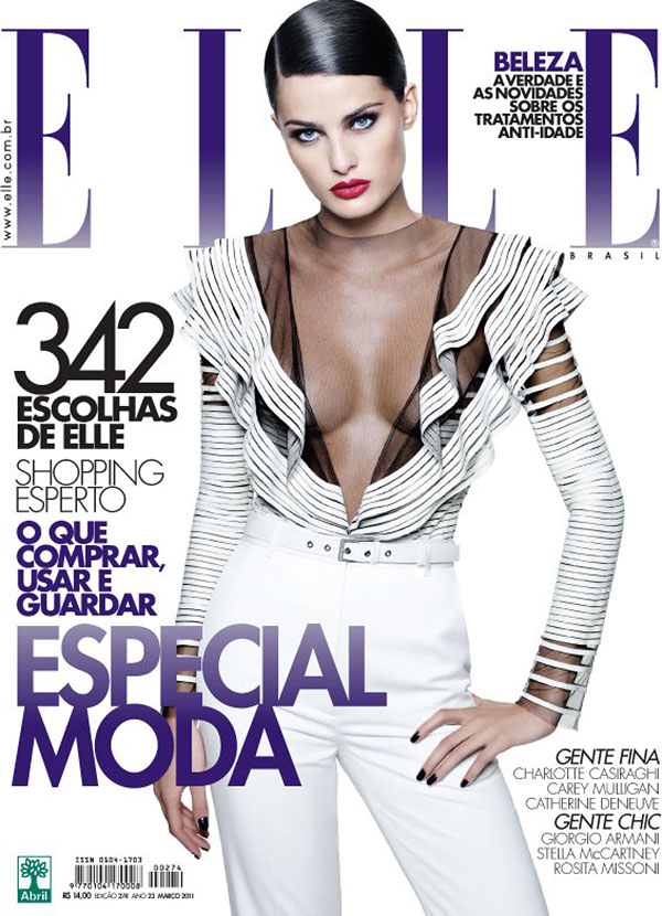 Elle Brazil March 2011 Cover | Isabeli Fontana by Gui Paganini