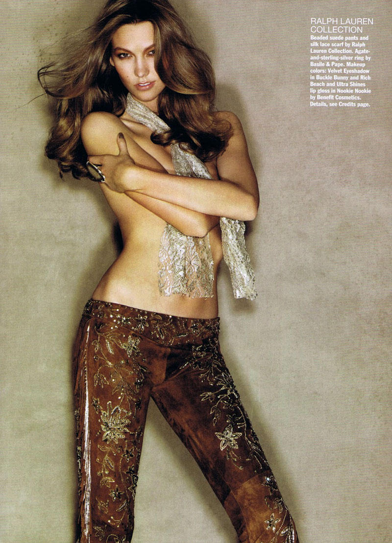 Karlie Kloss by Patrick Demarchelier for Allure March 2011