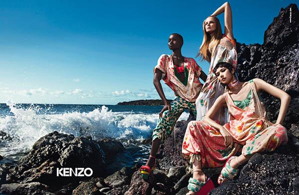 Kenzo Spring 2011 Campaign | Eniko, Tao & Ataui by Mario Sorrenti
