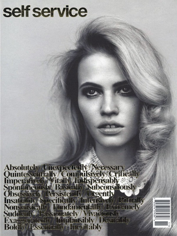 Self Service S/S 2011 Cover | Lara Stone by Alasdair McLellan