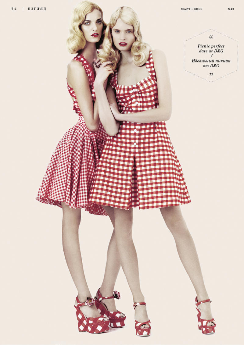 Denisa Dvorakova & Agnete Hegelund for Playing Fashion March 2011 by Emma Tempest