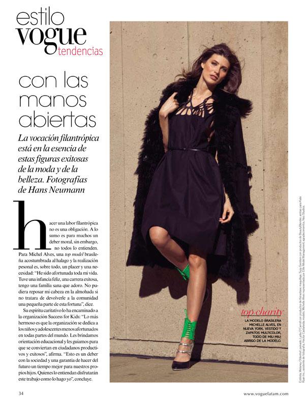 Snap! | Michelle Alves by Hans Neumann for Vogue Latin America
