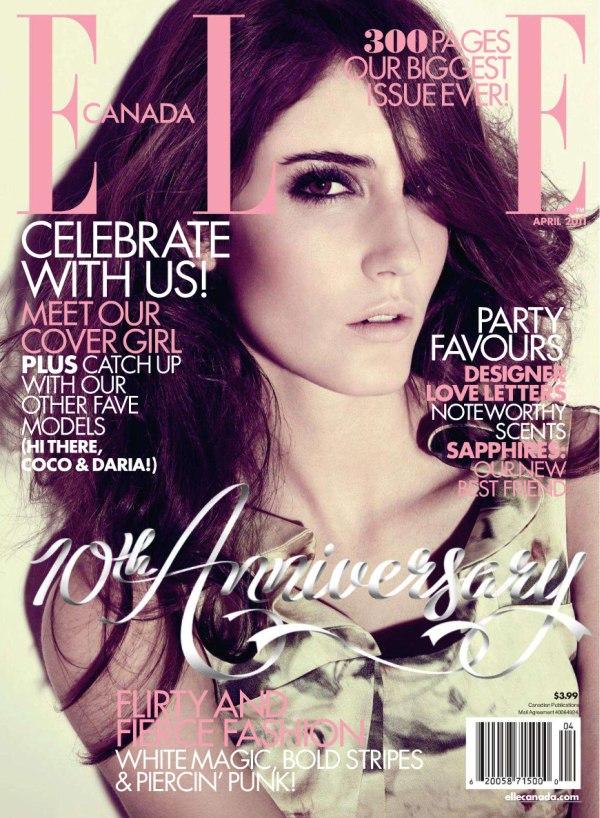 Amanda Laine for Elle Canada April 2011 (Cover)