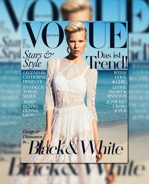 Britt Maren for Vogue Germany April 2011 (Cover)