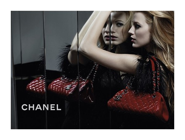 Blake Lively for Chanel Mademoiselle Handbag Campaign by Karl Lagerfeld