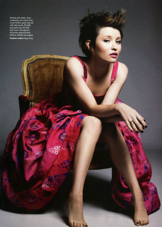 Emily Browning by Terry Gates for Vogue Australia April 2011
