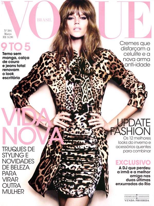 Vogue Brazil March 2011 Cover   Freja Beha Erichsen by Henrique Gendre